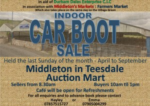 Carboot sale Landscape   advert 2015