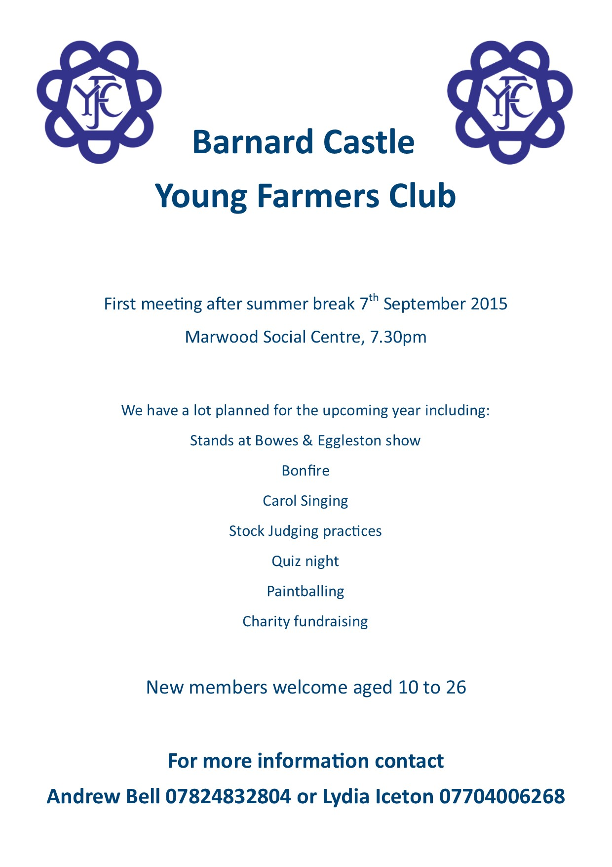 Barnard Castle Young Famers Club